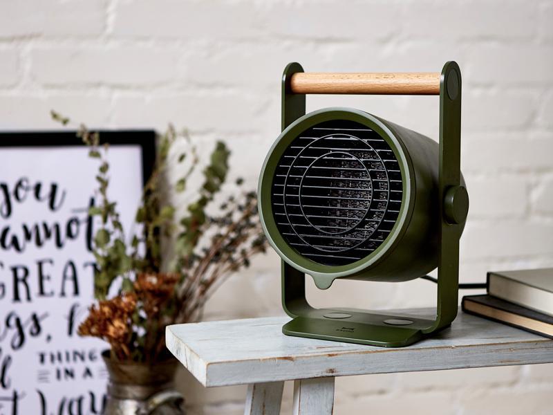 BRUNO天然木手持陶瓷電暖器