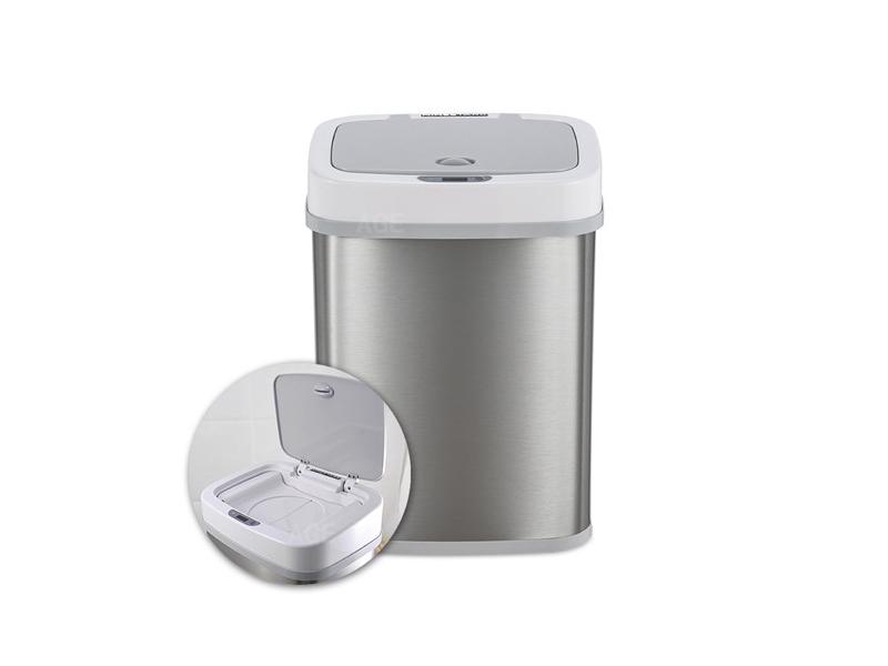 感應防臭不鏽鋼垃圾桶 12L