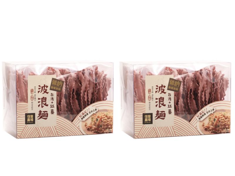 台灣紅藜波浪麵 兩盒組