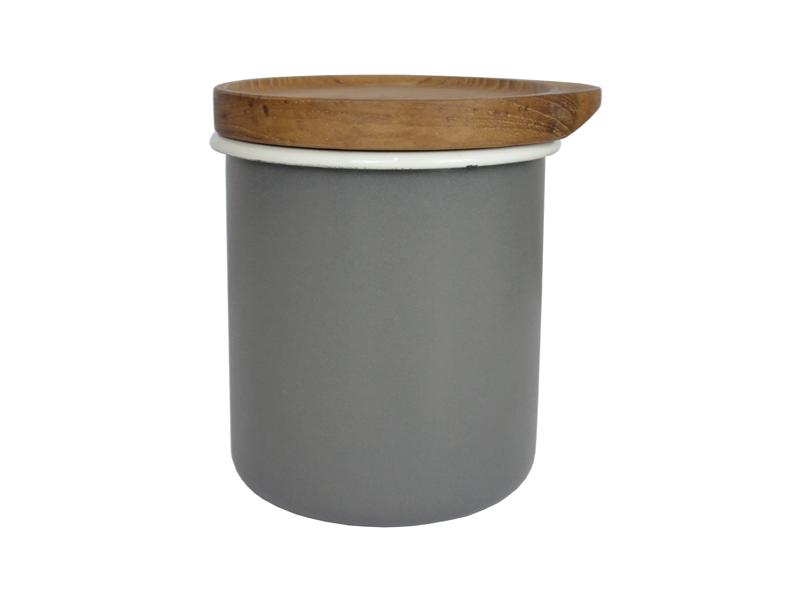 都會系列 琺瑯原木置物罐