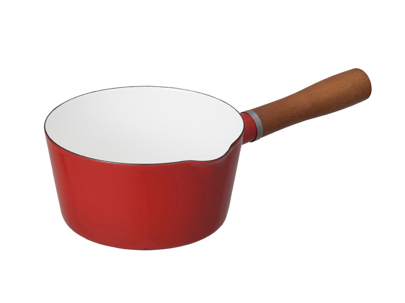 北歐系列 琺瑯原木單柄牛奶鍋