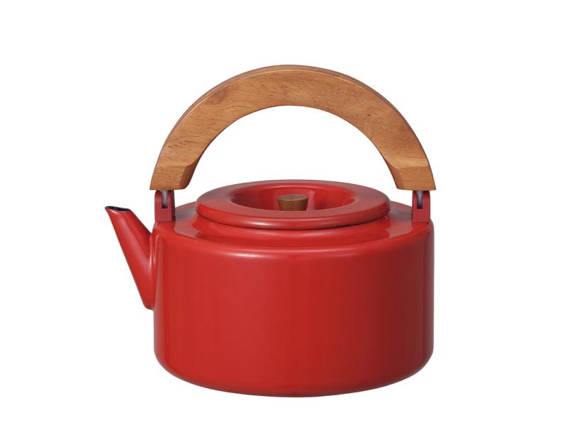 北歐系列 琺瑯原木泡茶兩用壺