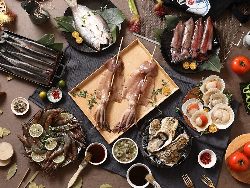中秋海鮮烤肉 A 套餐(5~7人)