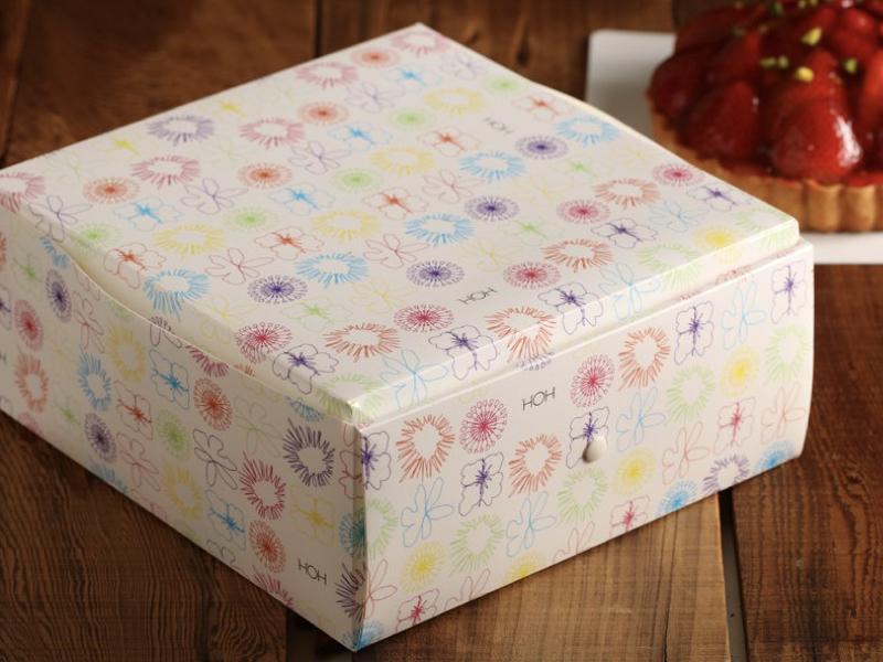花團錦簇折疊蛋糕盒