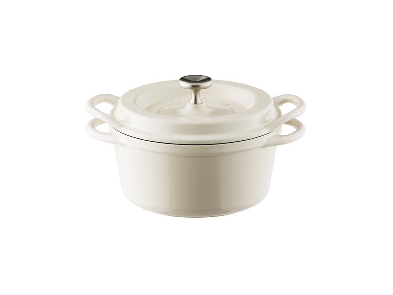 琺瑯鑄鐵鍋 14cm(特殊色)(贈:木磁力鍋墊 14cm)