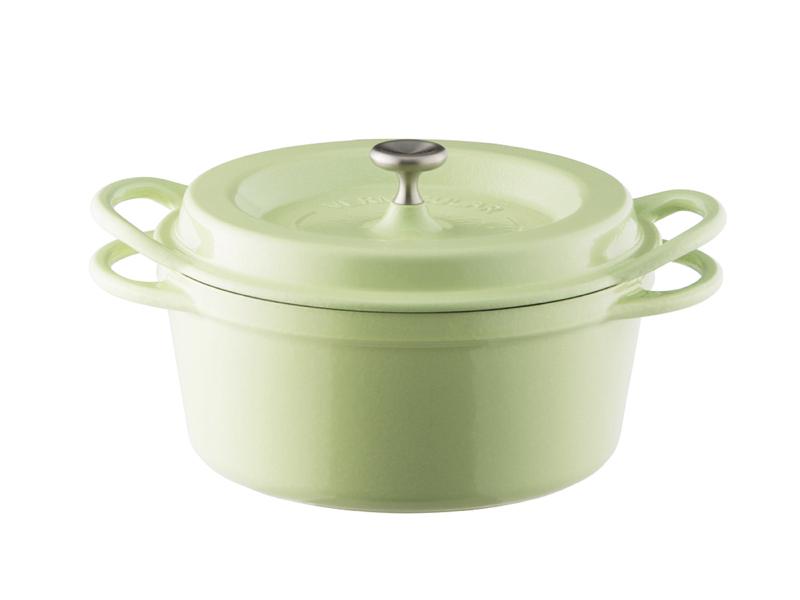 琺瑯鑄鐵鍋 18cm(一般色)(贈:木磁力鍋墊 18cm)