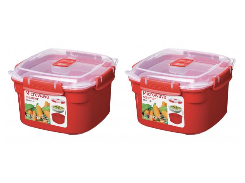 微波系列方型保鮮盒 1.4L 二入組