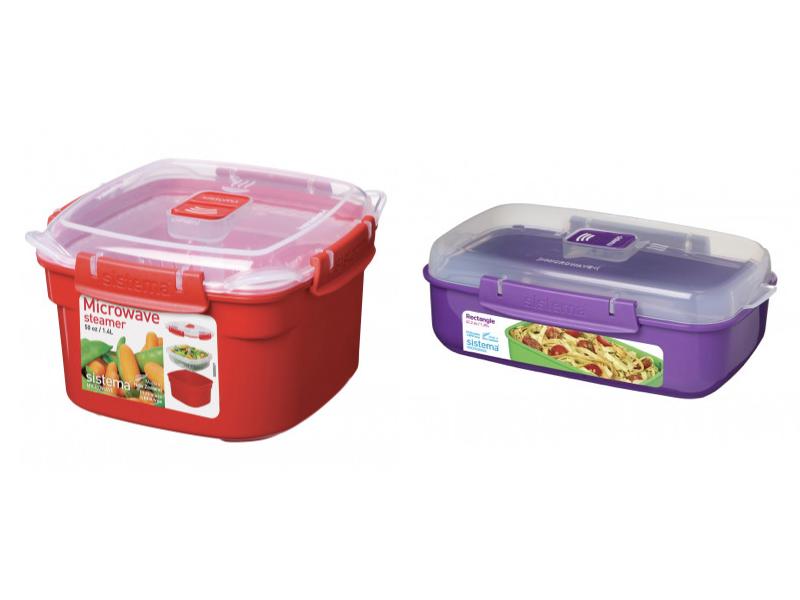 微波系列方型保鮮盒 1.4L+長型保鮮盒 1.25L