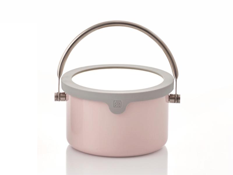 虹彩鋼琺瑯便當提鍋(含蓋)16cm