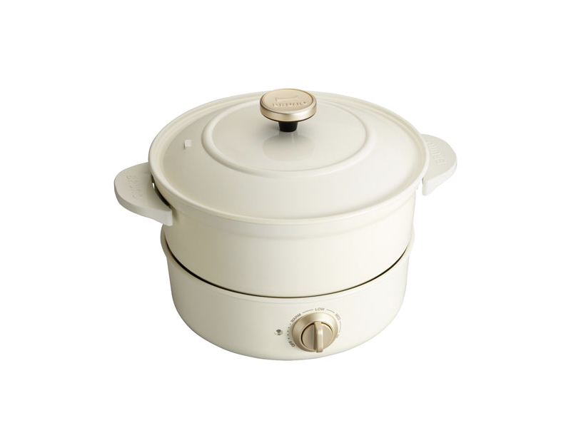 萬能調理鍋 白色(贈:原木方型穿孔木勺)