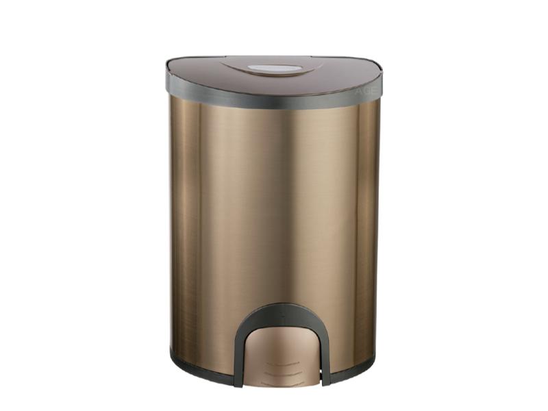 腳觸式自動掀蓋垃圾桶 15L
