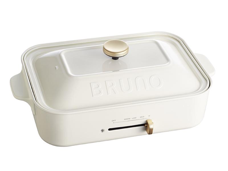 日本BRUNO多功能電烤盤(白色)(贈:裝飾旋鈕)