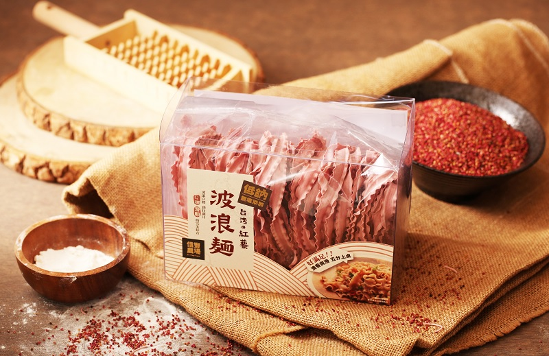 台灣紅藜波浪麵(兩包組)