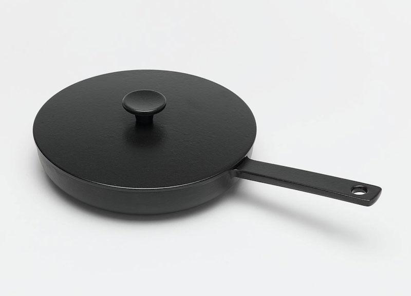 鑄鐵黑琺瑯單柄平底鍋