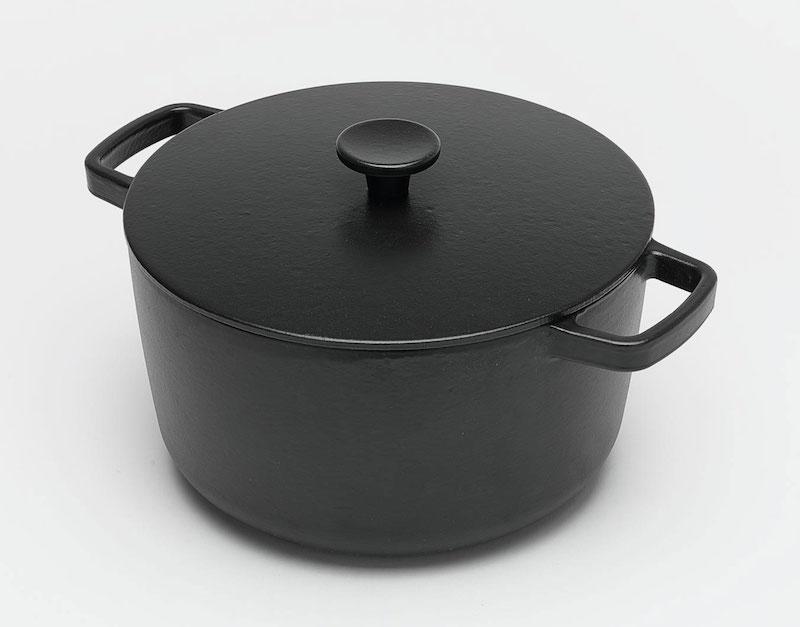 鑄鐵黑琺瑯雙耳深鍋