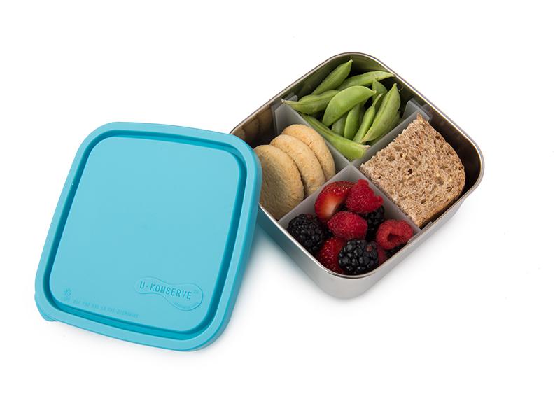 中方形餐盒(四分格可拆)