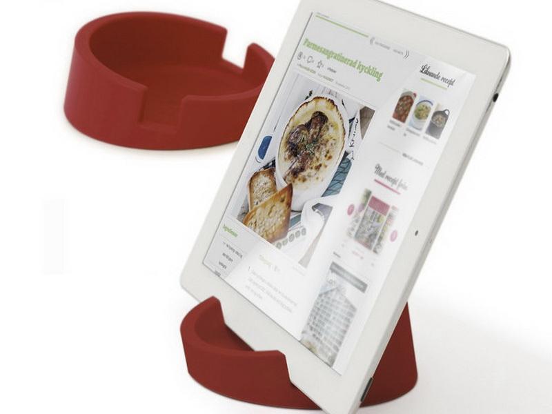 廚房用平板電腦立架(紅)