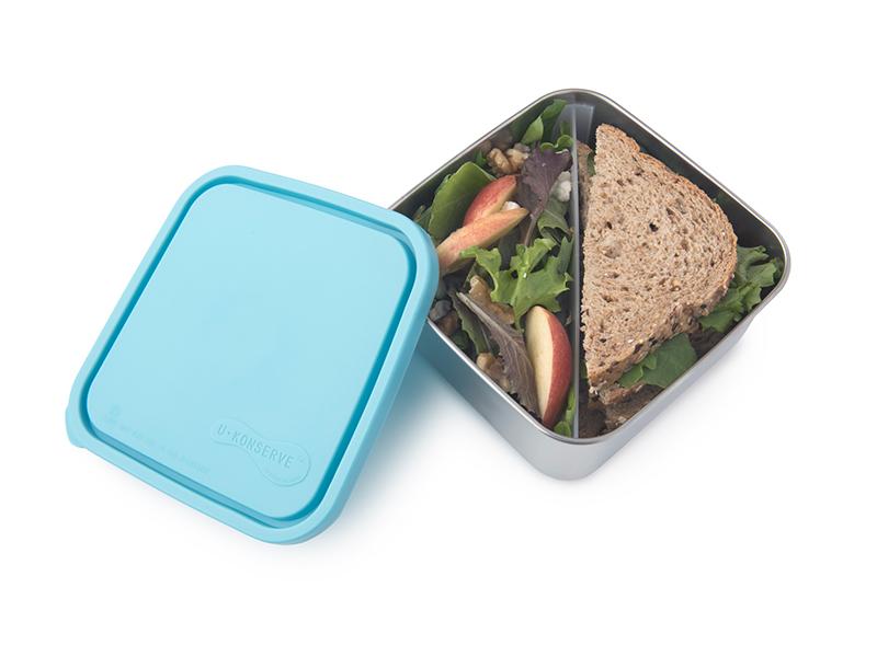 大方形餐盒(二分格可拆)