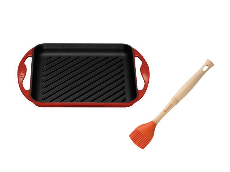 雙耳正方鐵烤盤24CM(加贈油刷)