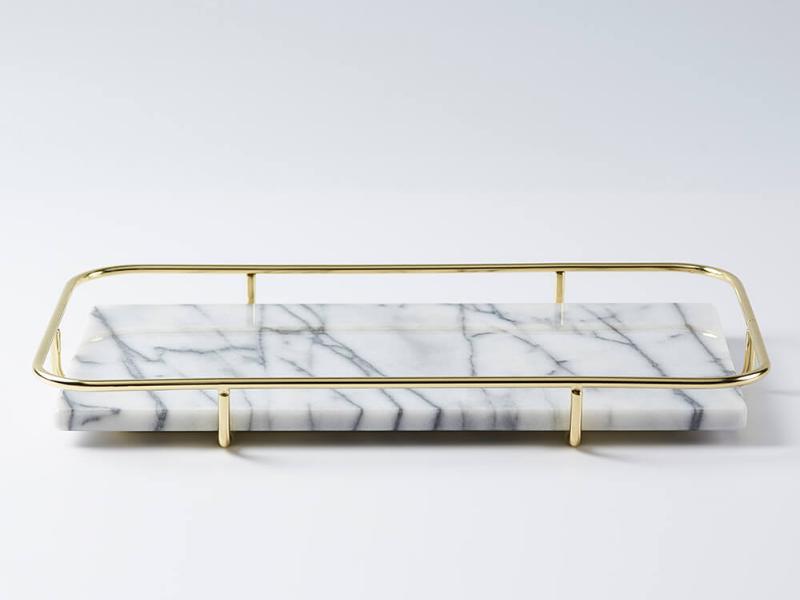 金邊大理石多功能置物盤