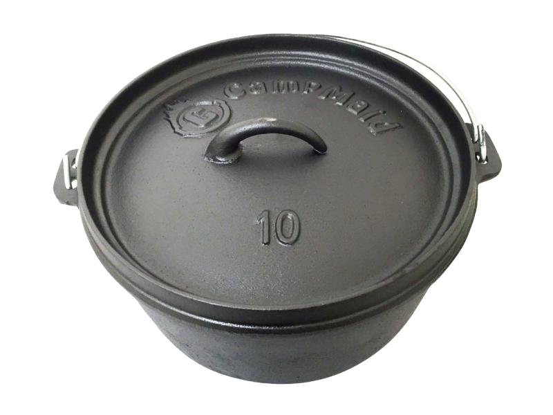 CampMaid 鑄鐵鍋10吋(無腳)
