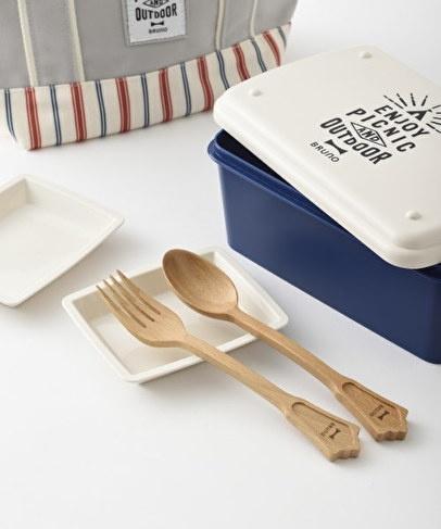 BRUNO原木餐具套組(湯匙+叉)