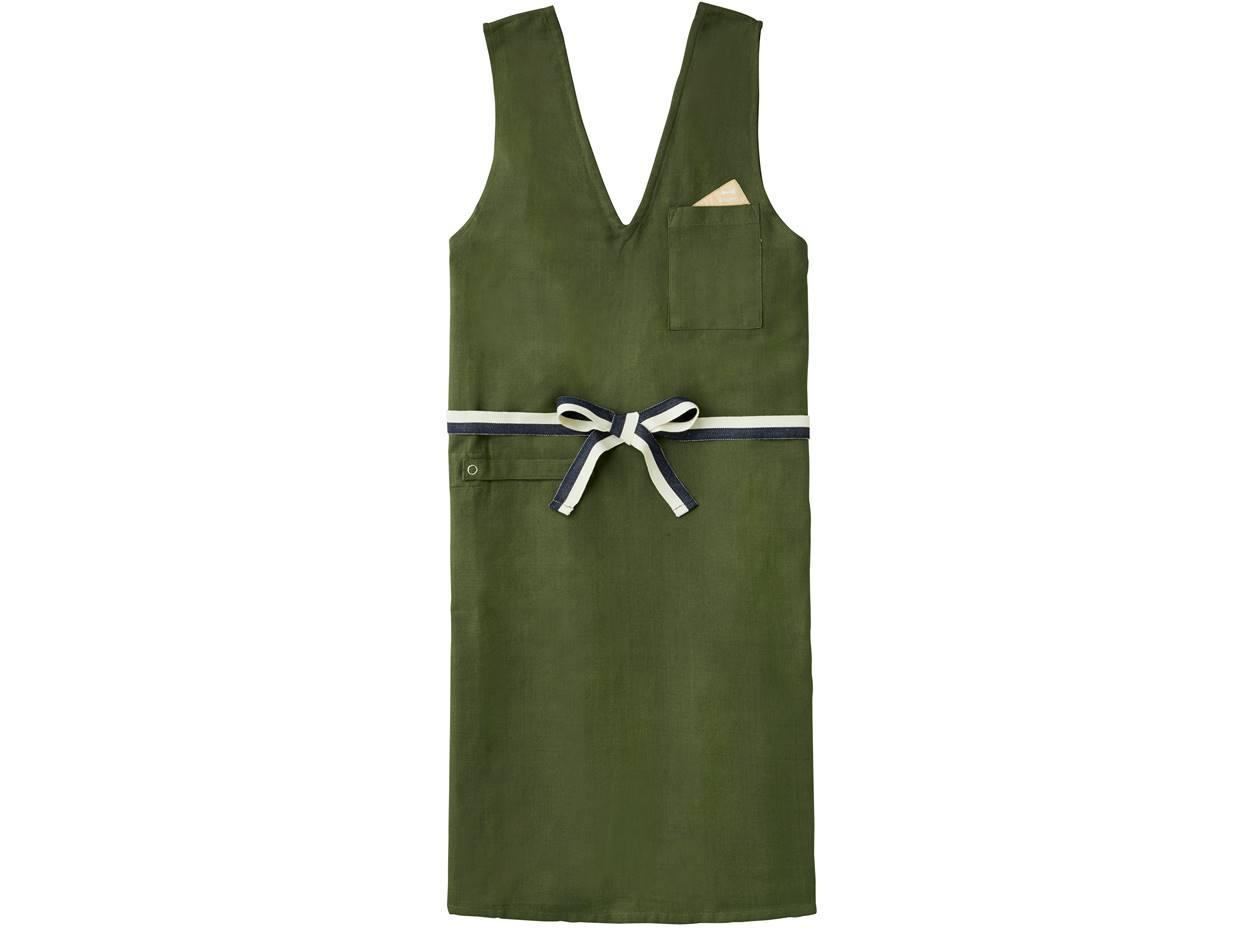 BRUNO 食尚棉質料理工作圍裙-寬帶(綠)