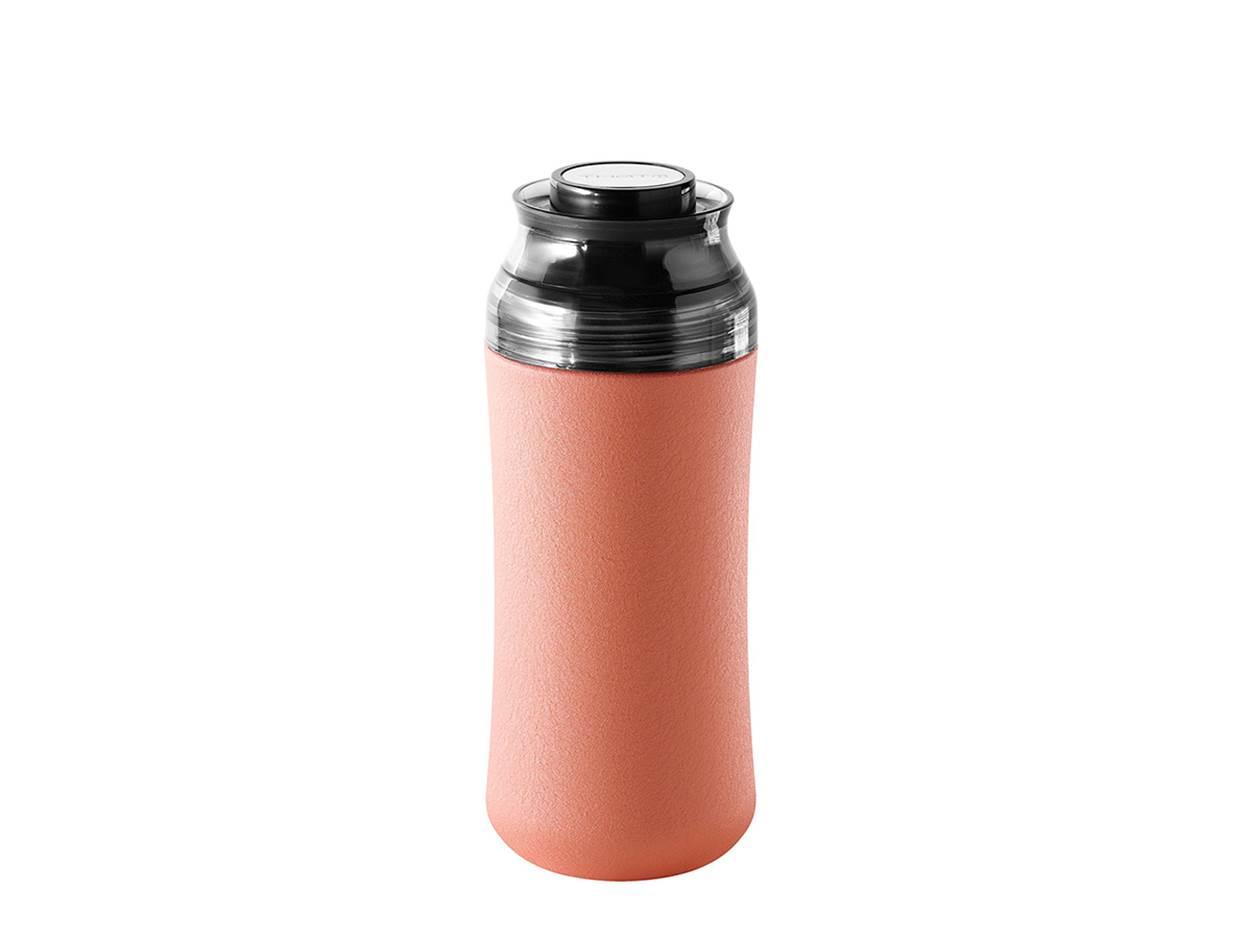 奇想伶巧陶瓷保溫杯-珊瑚粉