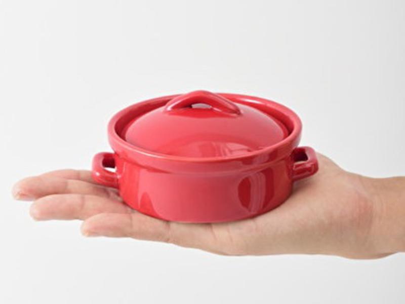 BRUNO 陶瓷鍋(紅色)圓形