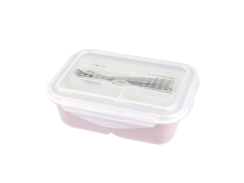 陶瓷保鮮盒-長形附餐具 2 格 845ML/1入