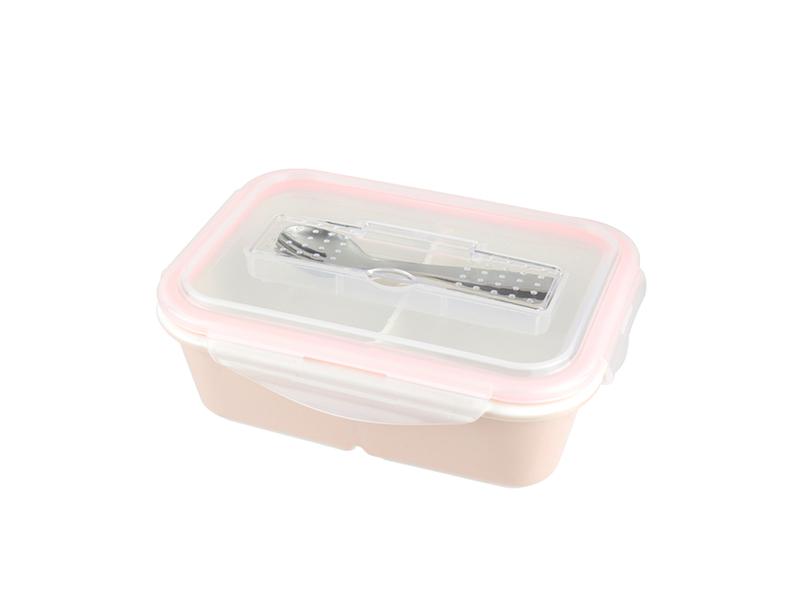 陶瓷保鮮盒-長形附餐具 4 格 1100ML/1入