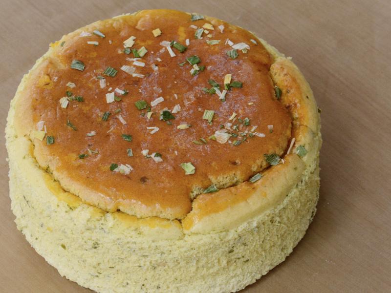 無麩質糙米蛋糕 三星蔥鹹乳酪 6吋