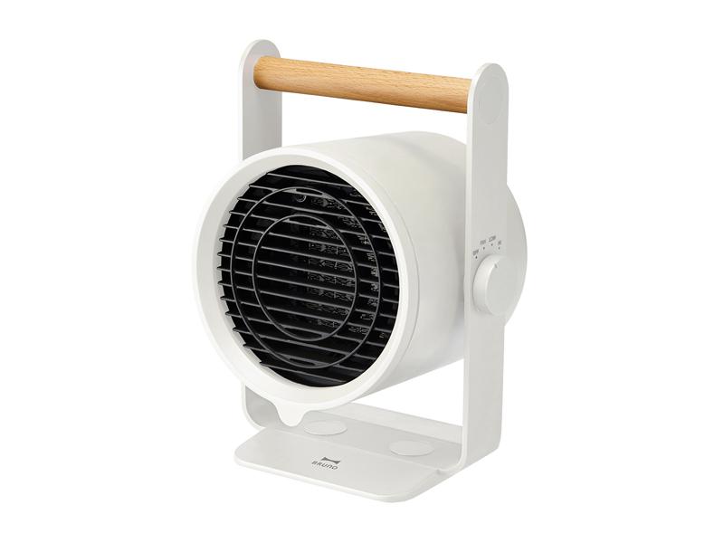 天然木手持 PTC 陶瓷電暖器 白色