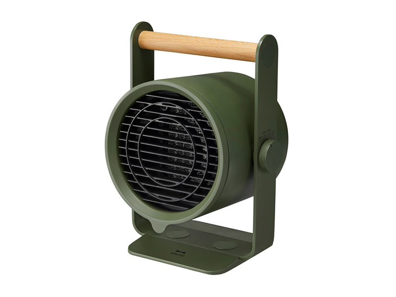 天然木手持 PTC 陶瓷電暖器 墨綠色