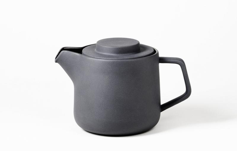 咖啡・茶兩用陶瓷壺 陶土灰