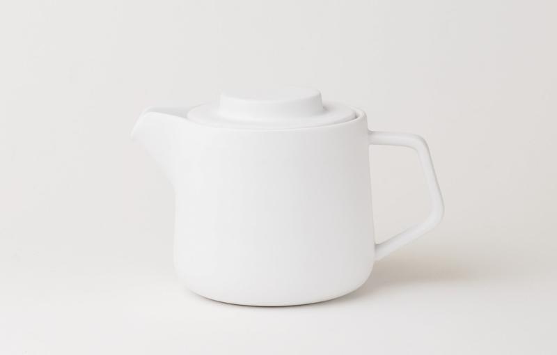 咖啡・茶兩用陶瓷壺 象牙白