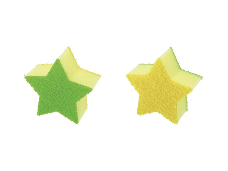 茶垢星星造型清潔菜瓜布