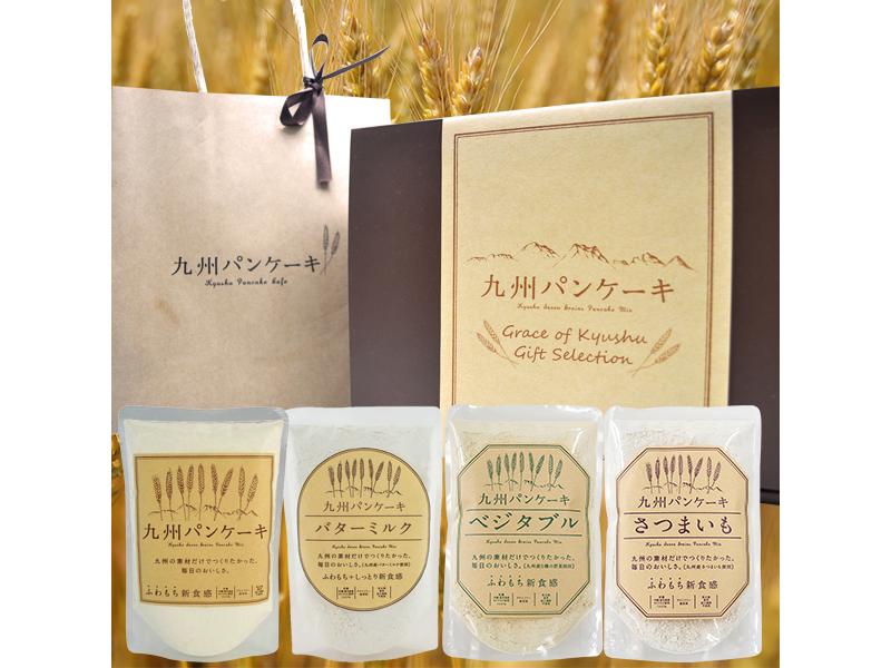 九州Pancake經典4入禮盒(原味/牛奶/薩摩芋/鮮野菜)
