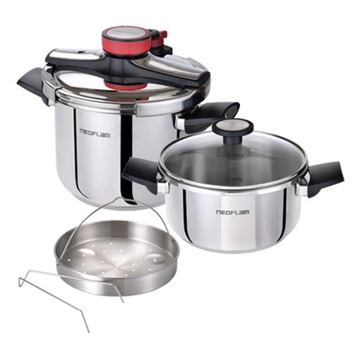 NEOFLAM美味壓力快鍋組(贈:刷具 3 件組+保鮮盒 2 件組)