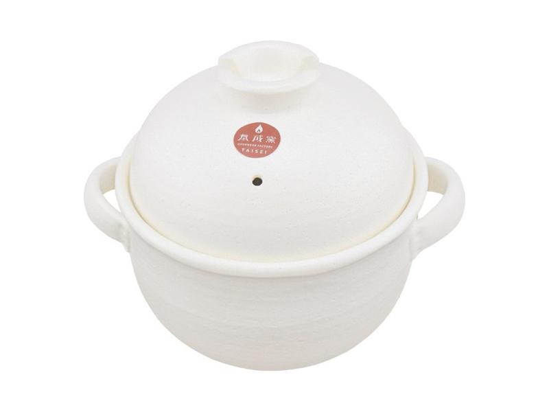 萬古燒4合炊飯土鍋 二重蓋