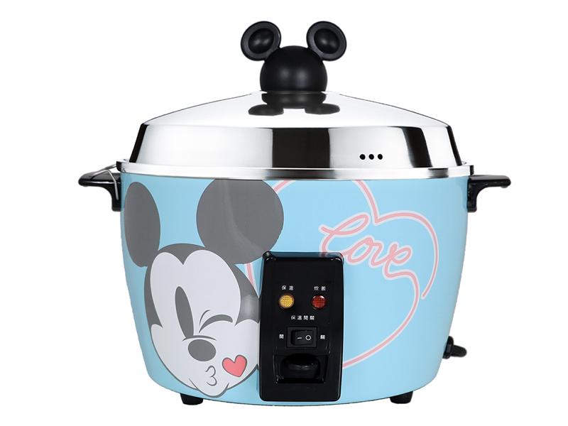 Disney 米奇系列不鏽鋼電鍋 馬卡龍藍