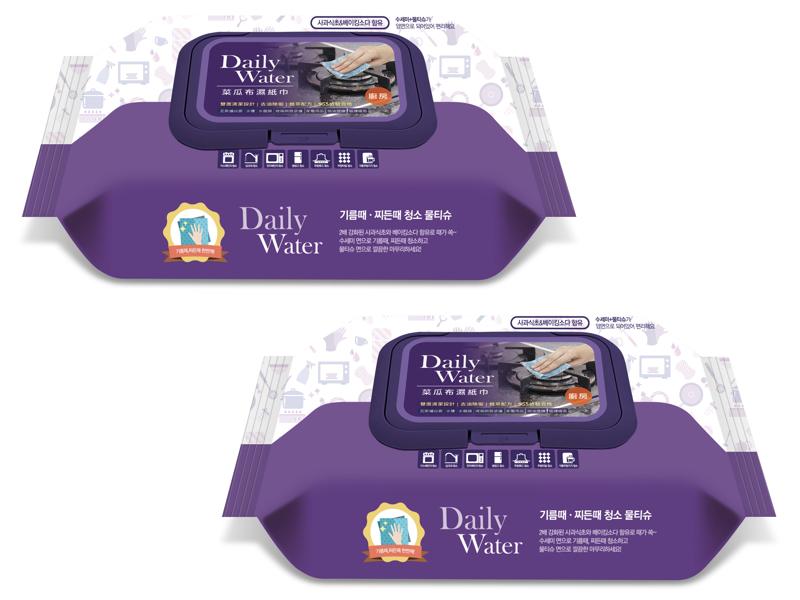 拋棄式雙面菜瓜布濕紙巾(廚房用)(二入)贈:第三代 waffle 菜瓜布