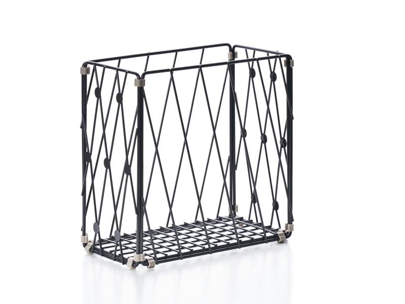 自由組鐵線收納籃 圓點窗花 直型