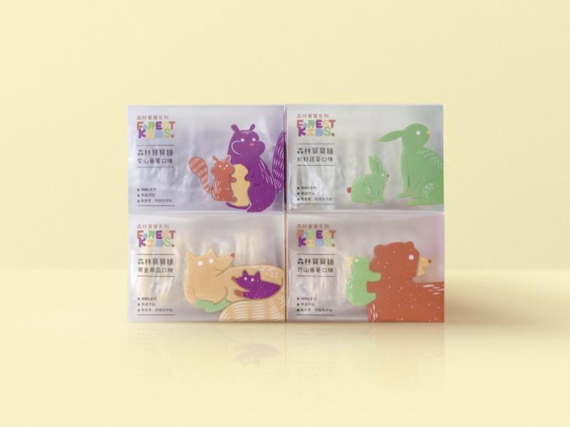 森林寶寶麵 4 盒免運組合
