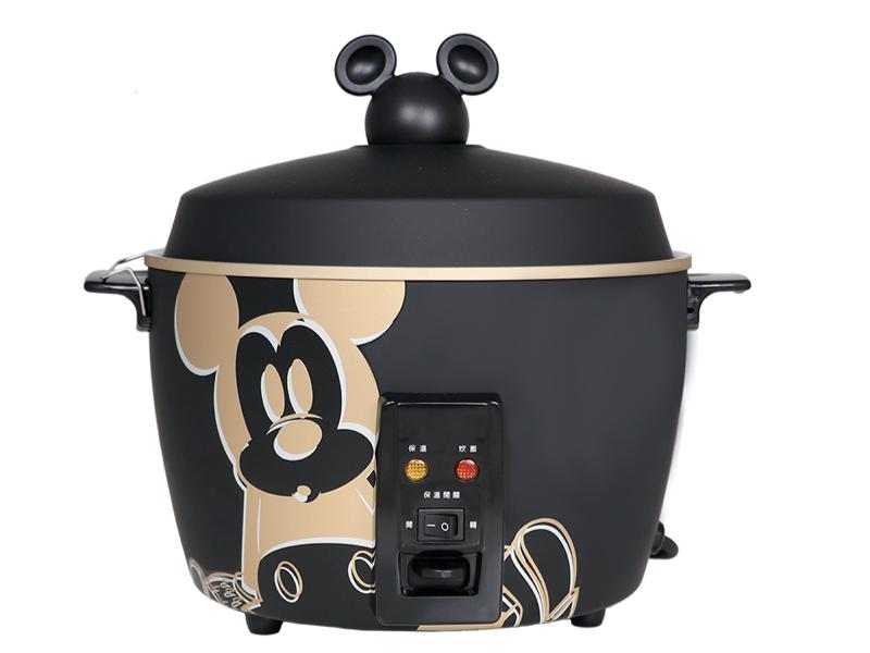 Disney 米奇系列不鏽鋼電鍋 質感黑