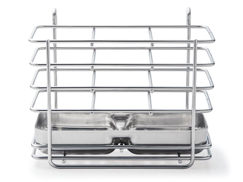 不鏽鋼餐具瀝水收納直立掛架